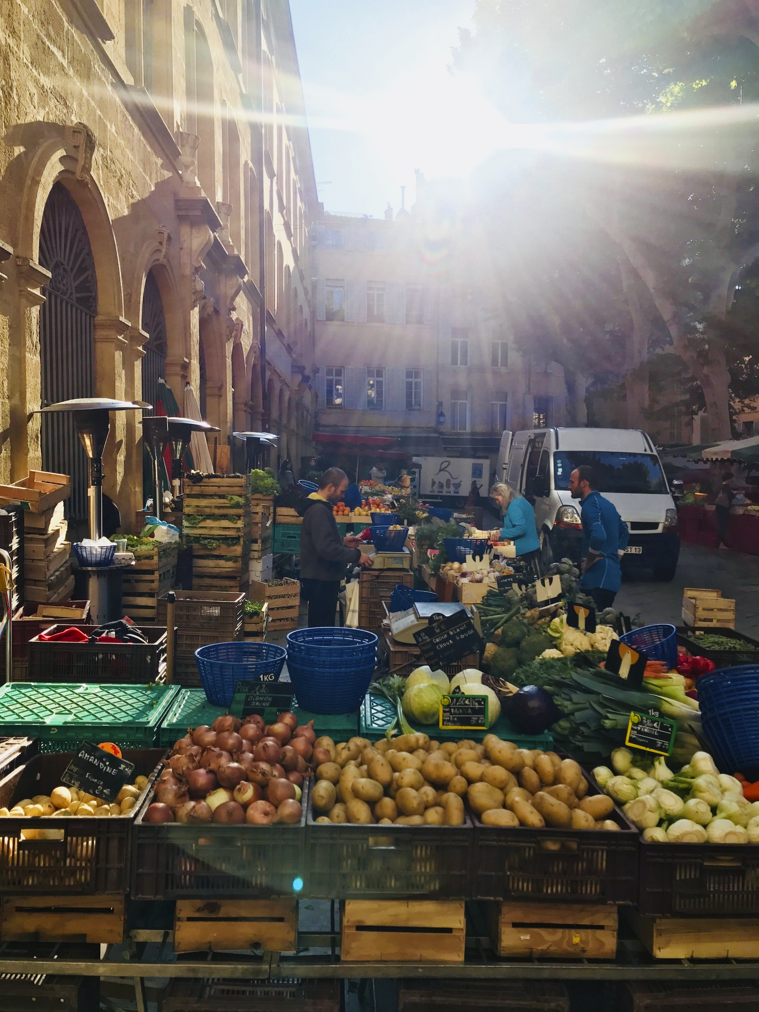 open air market in Aix en Provence France