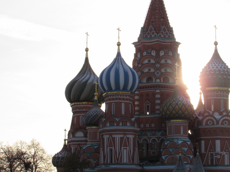 Saint Basil's Cathedral in Moscow.