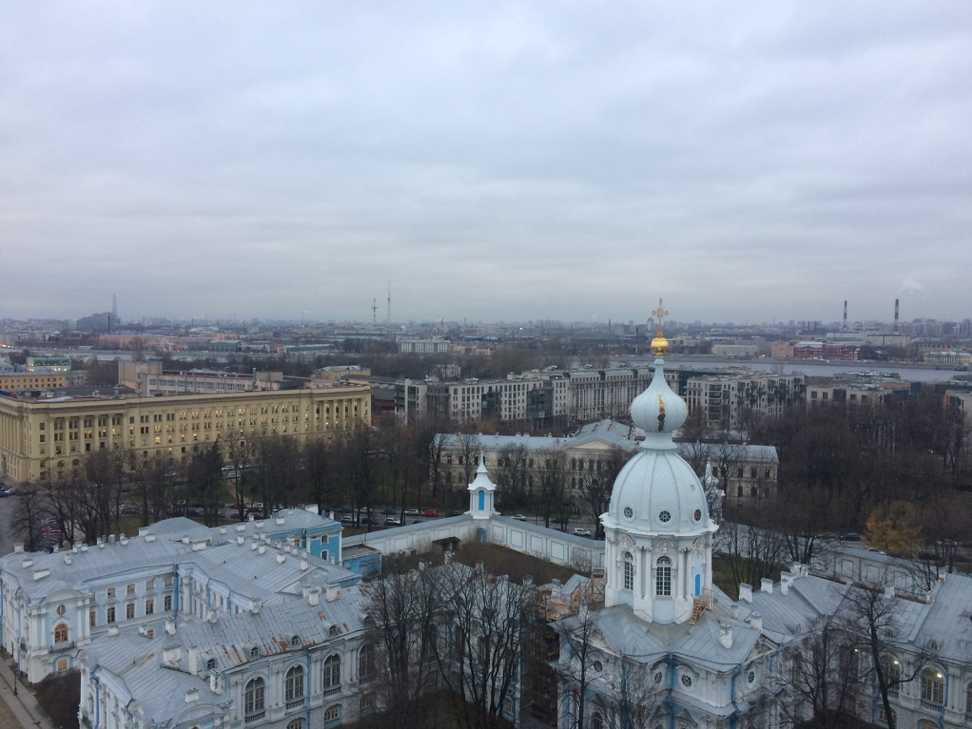 The view from Smolny Convent where I took my classes.