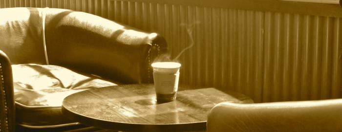 Photo of coffee in coffeehouse