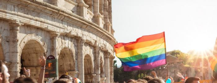 LGBTQIA+ Pride Flag in Rome