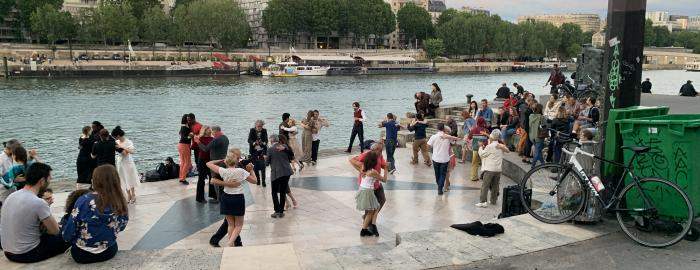 people dancing in Paris