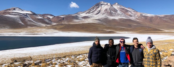 James Toscano and friends in the Atacama Desert